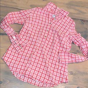 Vineyard vines plaid half button down shirt